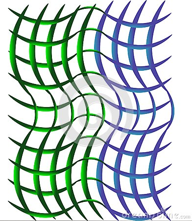 Open weave green and blue background