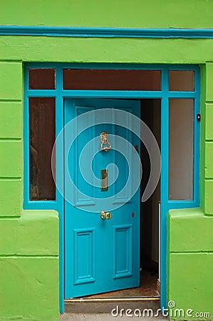 Free Open Welcoming Blue Door Stock Image - 7043001