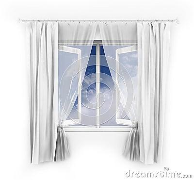 Free Open Window Illustration Stock Photos - 8204803