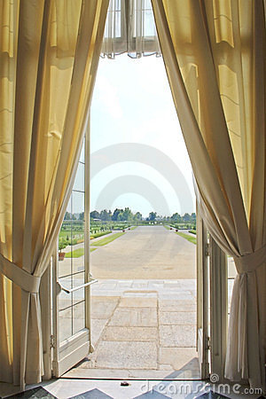 Open window of a royal palace