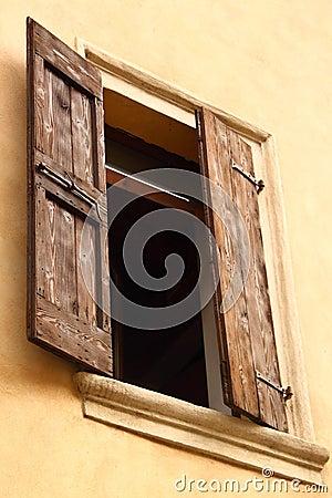 Open window with shutters