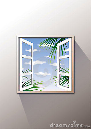 Open window to outside