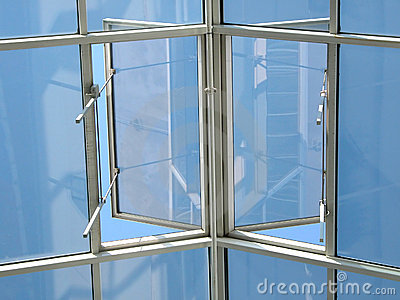 Open window to sky