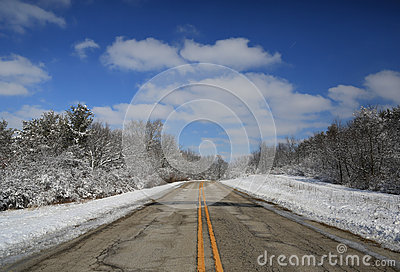 Open winter road