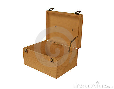 wooden safe box