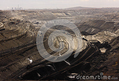 Opencast coal mine Editorial Stock Photo