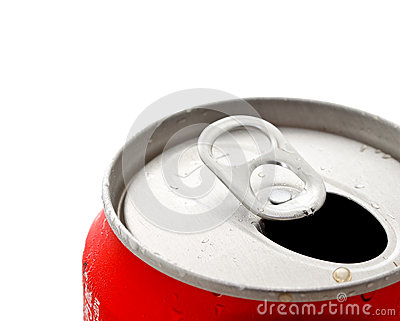 Opened beverage can