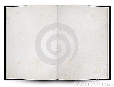 opened book or menu with grunge background texture