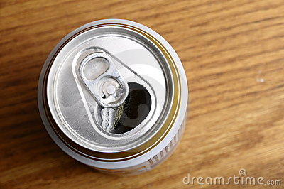 Opened Can of beer