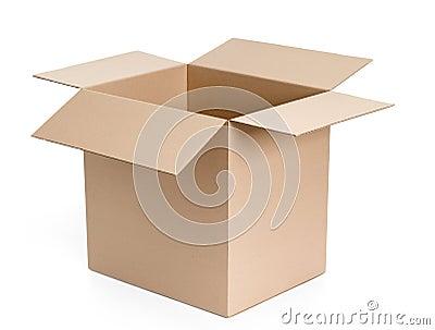 Opened cardboard package