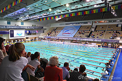 Opened championship of Russia on swimming Editorial Stock Photo