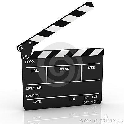Opened Clapboard in Perspective