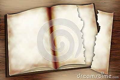 Opened Copybook