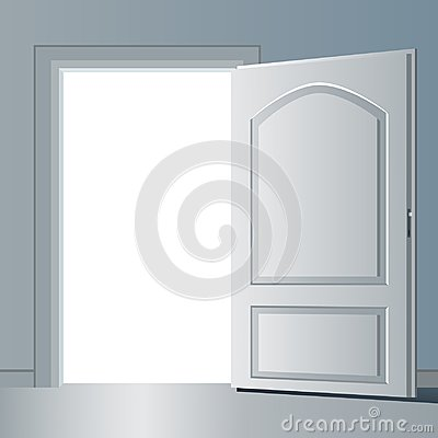 Free Opened Door Vector Design Illustration Royalty Free Stock Images - 110006939