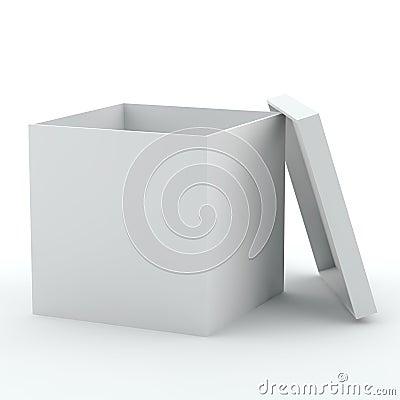 Opened empty box