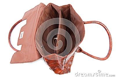 Opened female bag | Isolated