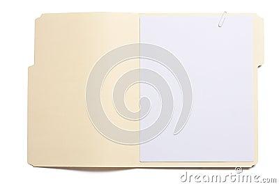 Opened file folder
