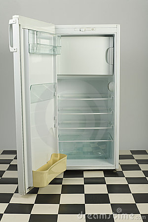 Opened fridge