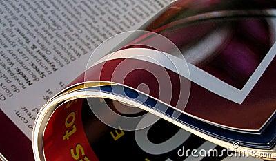 Opened magazine
