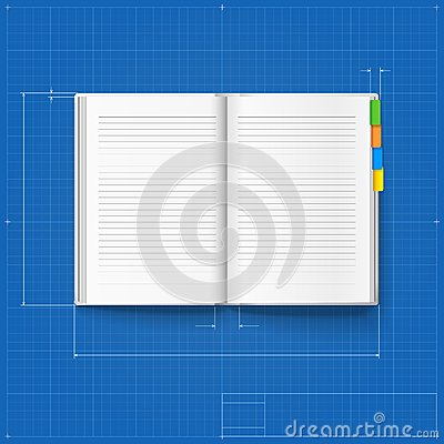 Free Opened Notebook Stylized Drawing Stock Images - 36190834