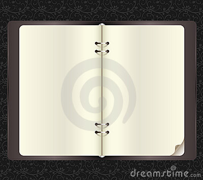 Free Opened Notebook With Paper Clips In Vector Stock Image - 11125621