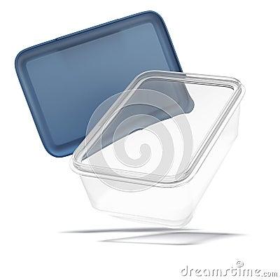 Plastic Food Container Clip Art