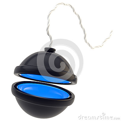 Opened spherical bomb isolated