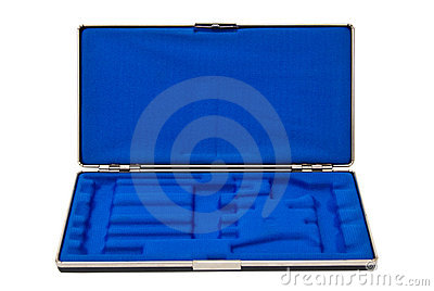 Opened tool case