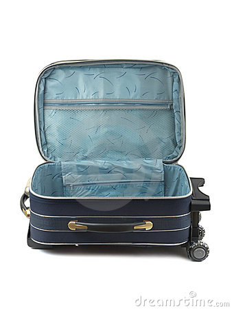 Opened travel case