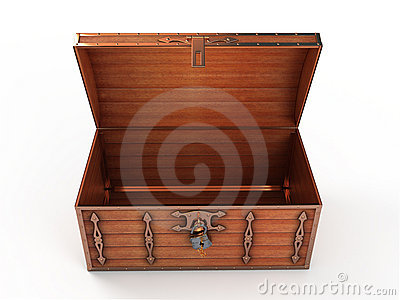 Opened Treasure Chest Royalty Free Stock Photography - Image: 12828747