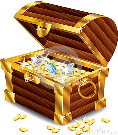 Free Opened Treasure Chest With Treasures Royalty Free Stock Image - 31610786