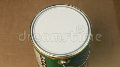 Opening A Can Of Paint Stock Video Footage Image Of