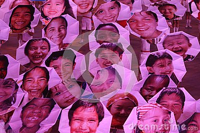 Faces of the World Editorial Stock Photo