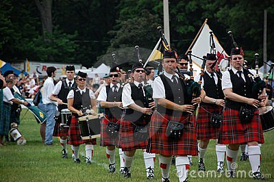 The Opening Ceremonies of The Georgetown Highland Editorial Stock Image