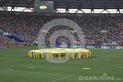 The opening ceremony of Euro 2012 in Kharkov Editorial Stock Photo
