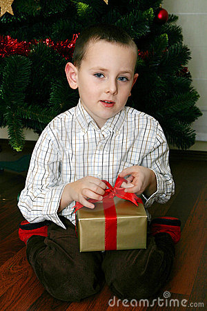 Opening Christmas presents