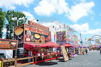 Opening Day at the Orange County Fair Editorial Stock Photo