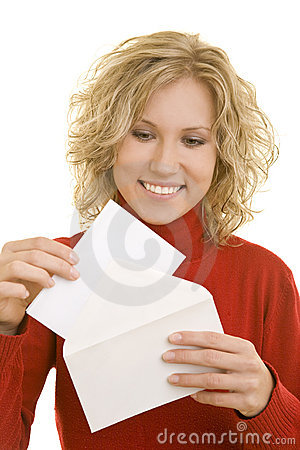 Opening a letter