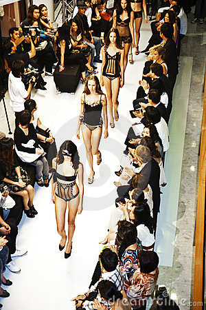 Opening of lingerie shop La Perla Editorial Photo