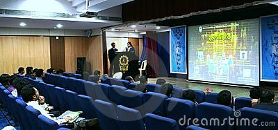 Opening of panel discussion in NITIE Mumbai Editorial Stock Photo