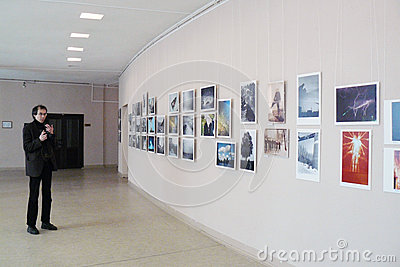 Smena World -2012 Photo exhibition Editorial Stock Photo