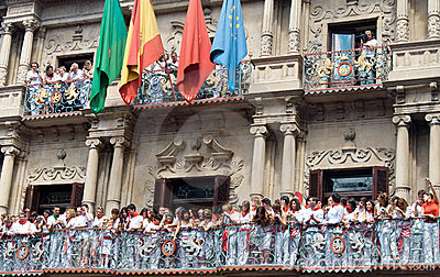 Opening of the San Fermin festival in Pamplona Editorial Stock Image