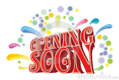 Opening soon graphic