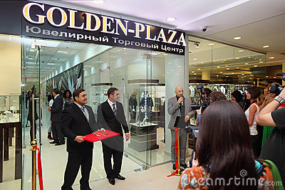 The opening of specialized Jewelry Trade Center Editorial Stock Photo