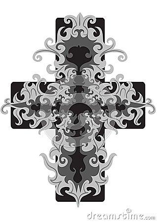 Openwork cross