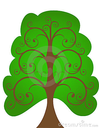 The openwork tree.