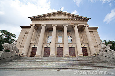 Opera building in Poznan (Poland)