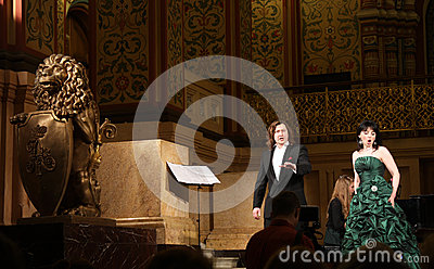 Opera concert in hall of Moscow Historical Museum Editorial Photography