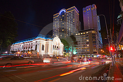 The opera at Ho Chi Minh City, Vietnam Editorial Photo