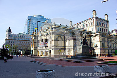 Opera House in Kiev Editorial Stock Image